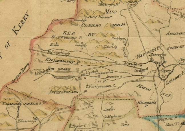 carrignacurra from smiths 1750 map of cork county (cork archives)